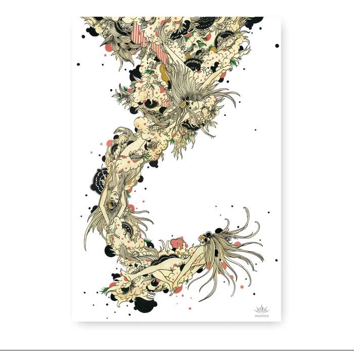 札幌丸井今井一条館8階 グラフィックアートステーション  阿部 真吏奈 原画特集