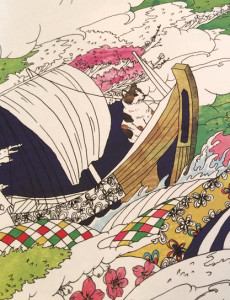 『おとなのネコ旅塗り絵ブック』福岡版