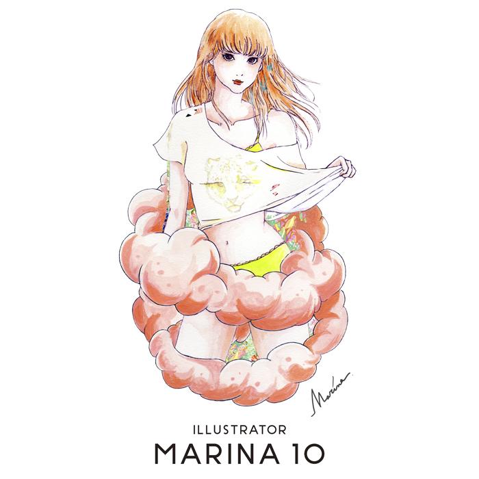 marina イラストレーター 真吏奈 作品 artwork 個展