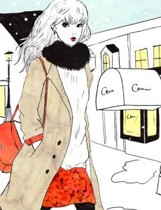 【Work】株式会社コーセー『CARTÉ CLINITY』~冬~ HPカットイラスト