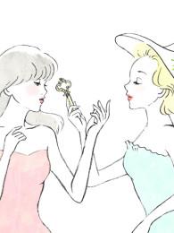 化粧品『マキアレイベル』ダイレクトメールカットイラスト