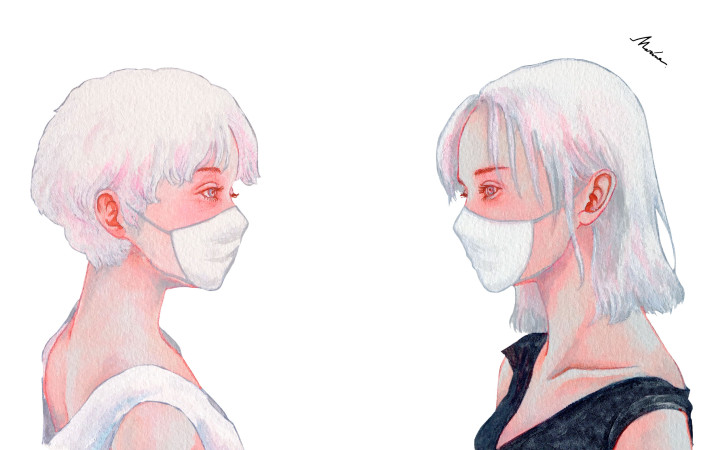 illustration marina イラストレーター 真吏奈 作品 artwork BAILA2021年8月号