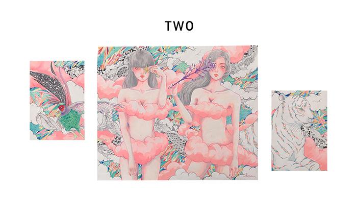 two BAMA 韓国 marina イラストレーター 真吏奈 作品 artwork